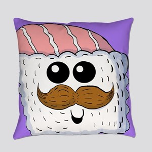 Mustache Sushi Everyday Pillow