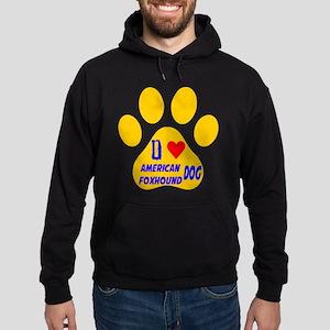 I Love American Foxhound Dog Hoodie (dark)