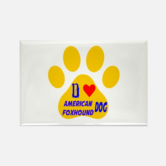 I Love American Foxhou Rectangle Magnet (100 pack)
