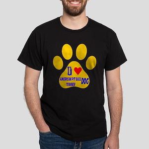 I Love American Pit Bull Terrier Dog Dark T-Shirt