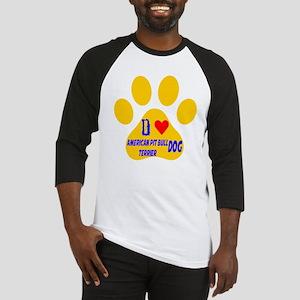 I Love American Pit Bull Terrier D Baseball Jersey