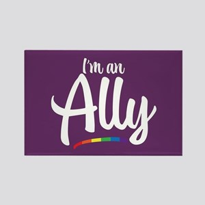 I'm an Ally - Gay Pride Full Bleed Magnets
