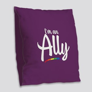 I'm an Ally - Gay Pride Full Bleed Burlap Throw Pi