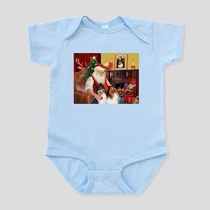 Santa's Collie pair Infant Bodysuit