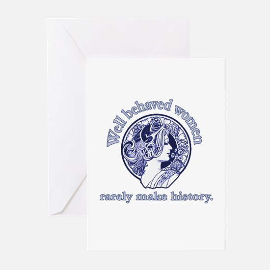 Artistic Well Behaved Women Greeting Cards (Pk of