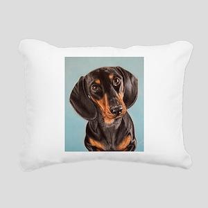 adorable dachshund Rectangular Canvas Pillow