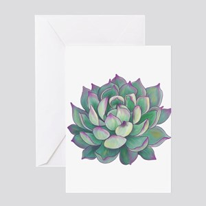 Succulent plant Greeting Cards