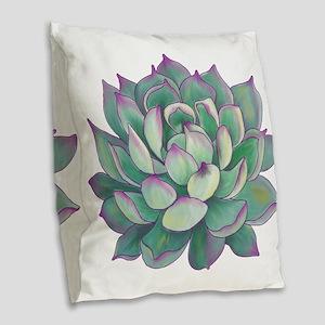 Succulent plant Burlap Throw Pillow