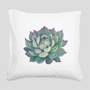 Succulent plant Square Canvas Pillow