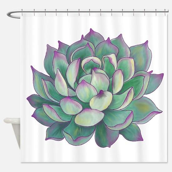 Succulent plant Shower Curtain