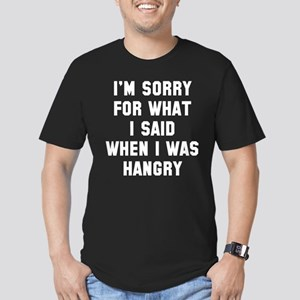 I'm Sorry For What I Said Men's Fitted T-Shirt (da