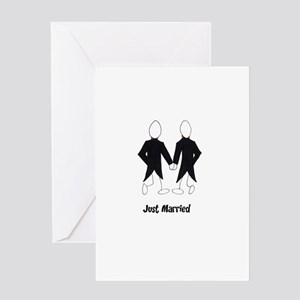 Gay Couple Just Married Greeting Cards
