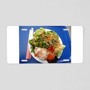 Hawaiian poki bowl salad Aluminum License Plate