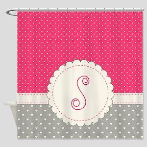 Cute Monogram Letter S Shower Curtain