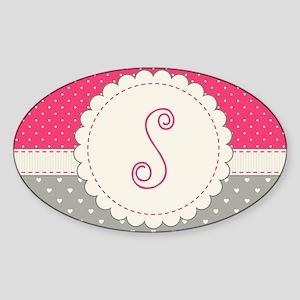 Cute Monogram Letter S Sticker