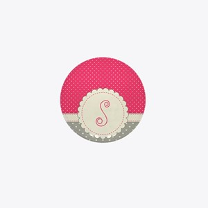 Cute Monogram Letter S Mini Button