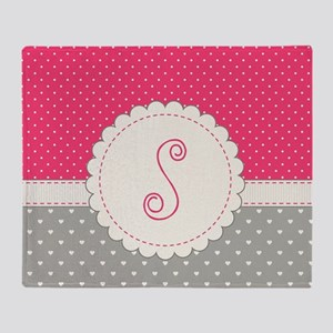 Cute Monogram Letter S Throw Blanket