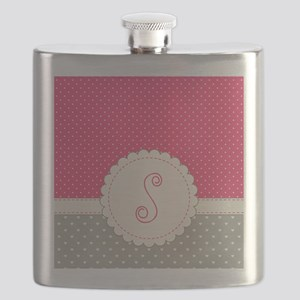 Cute Monogram Letter S Flask