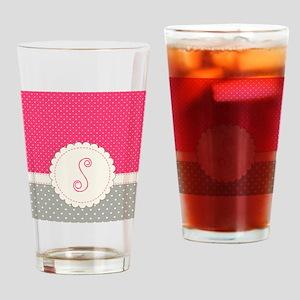 Cute Monogram Letter S Drinking Glass
