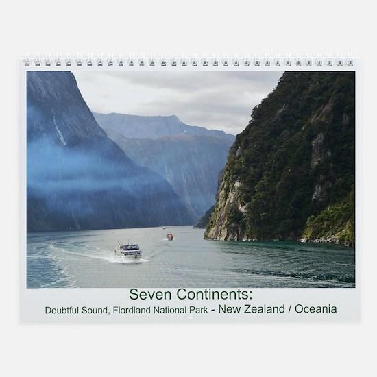 Seven Continents Wall Calendar