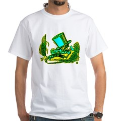 Mad Hatter Running White T-Shirt