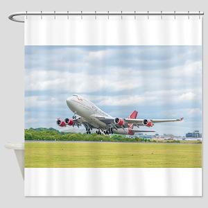 Virgin Atlantic B747 Shower Curtain