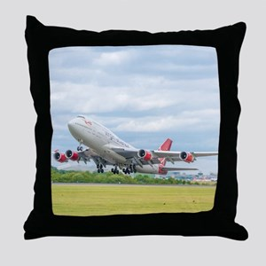Virgin Atlantic B747 Throw Pillow