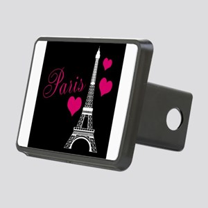 Paris Eiffel Tower in Black Hitch Cover