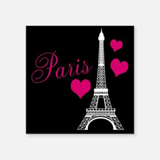 Paris Eiffel Tower in Black Sticker