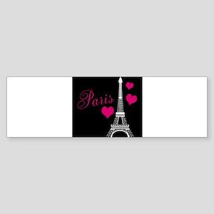 Paris Eiffel Tower in Black Bumper Sticker