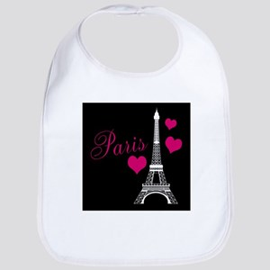 Paris Eiffel Tower in Black Bib