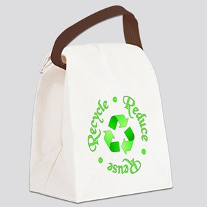 Reduce - Reuse - Recycle Canvas Lunch Bag