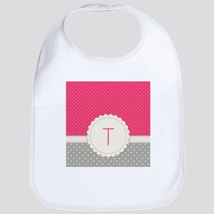 Cute Monogram Letter T Bib