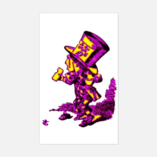 Mad Hatter Rectangle Decal