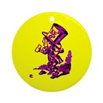 Mad Hatter Ornament (Round)