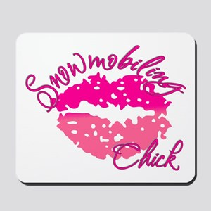 Snowmobiling Chick Mousepad