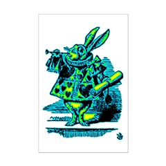 White Rabbit with Trumpet Posters