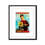 The Edison Phonograph Framed Panel Print