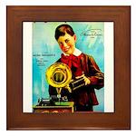 The Edison Phonograph Framed Tile