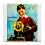 The Edison Phonograph Tile Coaster
