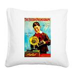 The Edison Phonograph Square Canvas Pillow