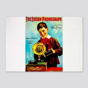 The Edison Phonograph 5'x7'Area Rug