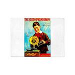 The Edison Phonograph 5'x7'Area Rug
