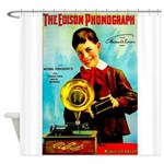 The Edison Phonograph Shower Curtain