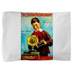 The Edison Phonograph Pillow Sham
