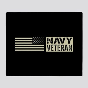 U.S. Navy: Veteran (Black Flag) Throw Blanket