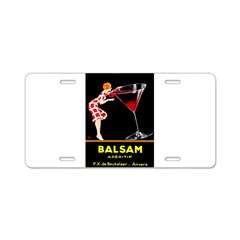 Balsam Aperitif Aluminum License Plate