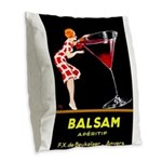 Balsam Aperitif Burlap Throw Pillow