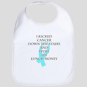Cancer Bully (Light Blue Ribbon) Bib