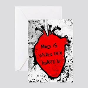 mom is where the anatomical heart is Greeting Card